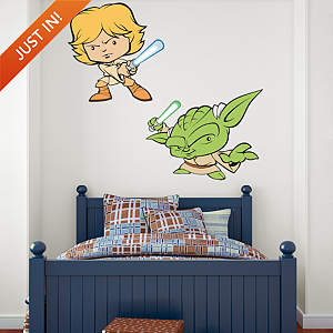 Luke Skywalker & Yoda POP! Fathead Wall Decal